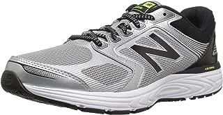 Men's 560v7 Cushioning Running Shoe, Silver/Black,
