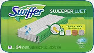 Swiffer Sweeper Wet Mopping Pad, Multi Surface Cleaner Refills For Floor Mop ( Package may vary )