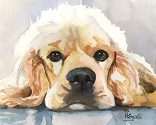 "Cocker Spaniel Art Print | Cocker Spaniel Gifts | From Original Painting by Ron Krajewski | Hand Signed in 8x10"" and 11x14"" Sizes"