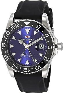 Seapro Men's Agent Stainless Steel Quartz Rubber Strap, Black, 19.4 Casual Watch (Model: SP0125B)