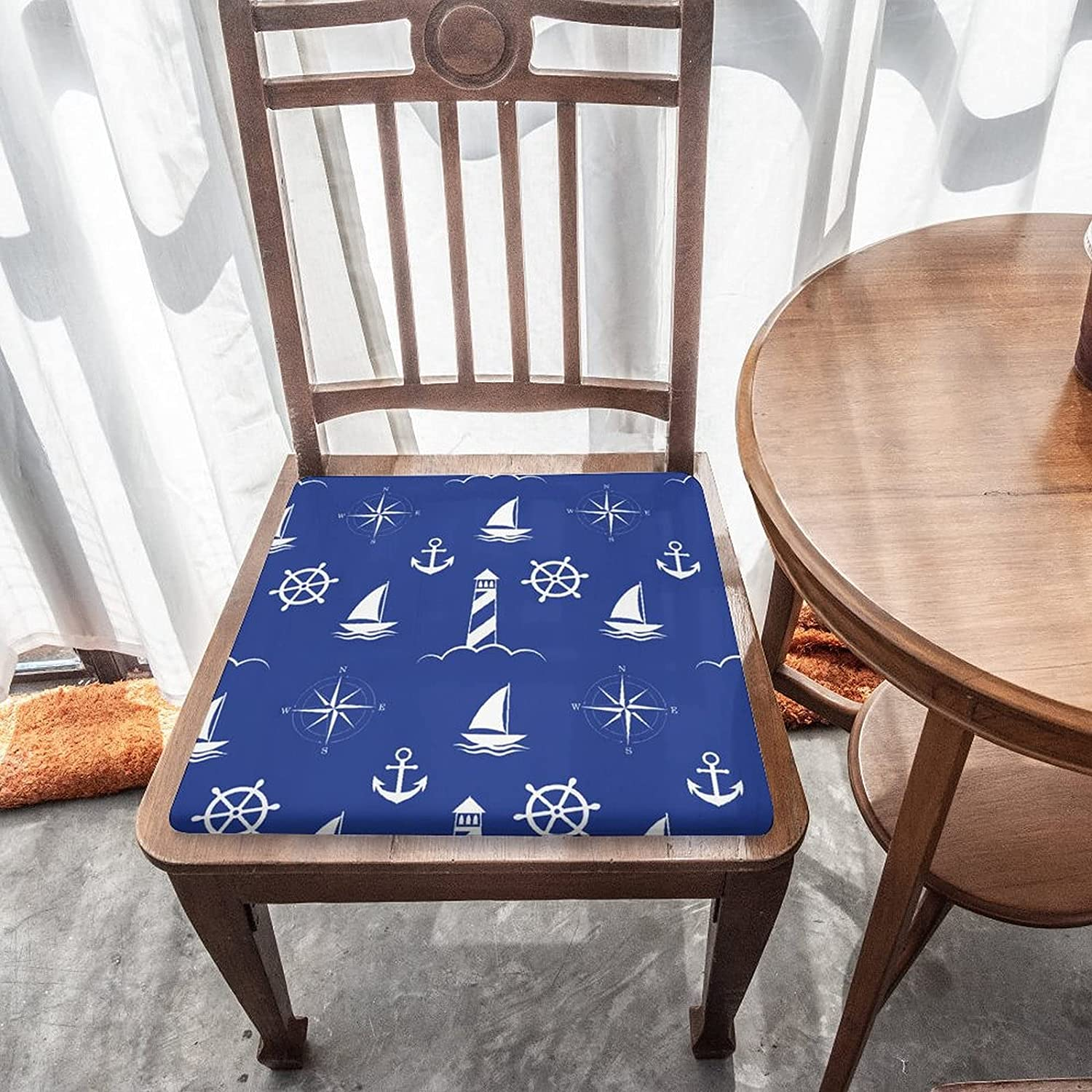 Sea Anchors Pattern Outdoor Kansas City Mall Indoor Removable Cheap bargain Seat Chair Cushion