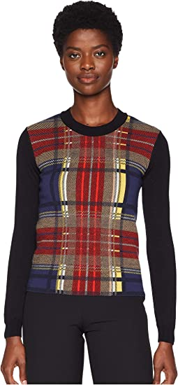 Plaid Long Sleeve Sweater