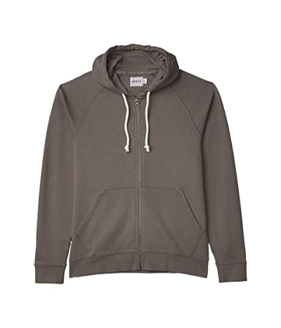 PACT Organic Cotton Essential Zip Hoodie (Pewter) Men