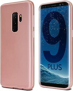 Goospery i-Jelly for Samsung Galaxy S9 Plus Case (2018) Slim Thin Rubber Case (Metallic Rose Gold) S9P-IJEL-PNK