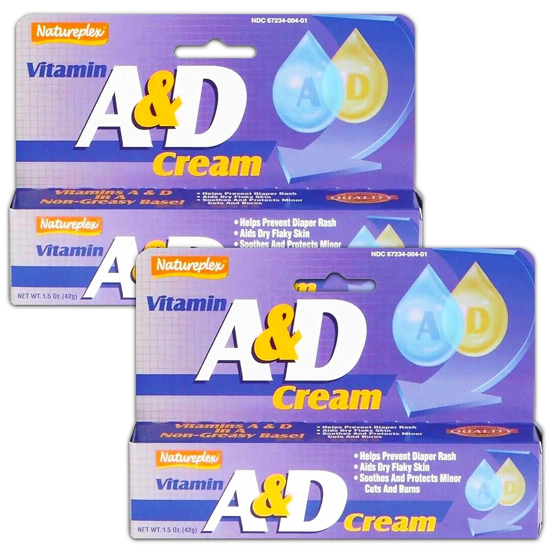2X Natureplex Vitamin A & D Cream 1.5 oz Diaper Rash Cuts Burns Chapped Skin