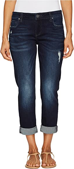 KUT from the Kloth - Petite Catherine Boyfriend Five-Pocket in Vogue w/ Euro Base Wash