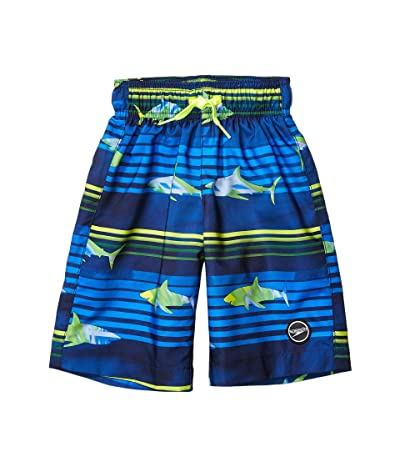 Speedo Kids Shark Wave Redondo Volley Shorts w/ Comfort Liner (Little Kids/Big Kids) (Blue Lemonade) Boy