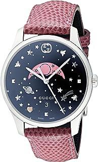 5381ab78bab Gucci Womens Moon Phase Quartz Watch with Leather Strap YA1264046