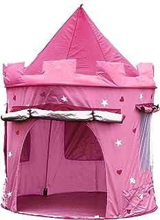 Kiddus Tienda casa casita Carpa campaña para niñas de Tela Lona Castillo Princesa, Pop UP Plegable para Jugar Juguete Infantil (Rose)