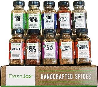 FreshJax Premium Organic Gourmet Spice Gift Set, Meat Steak Lover Seasonings Sampler (Meat 10 Spice Gift Set)