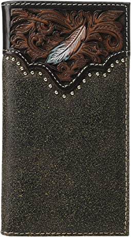 Pierced Feather Embossed Rodeo Wallet