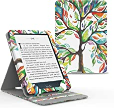 MoKo Case Fits Kindle Paperwhite (10th Generation, 2018 Releases), Premium Vertical Flip Cover with Auto Wake/Sleep Compatible for Amazon Kindle Paperwhite 2018 E-Reader - Lucky Tree
