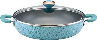 Paula Deen 12506 Signature Nonstick Chicken Frying Pan / Fry Pan / Skillet with Side Handles - 12 Inch, Aqua Speckle Blue