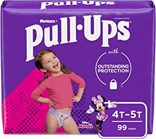 Sponsored Ad - Pull-Ups Girls' Potty Training Pants Training Underwear, 4T-5T, 99 Ct, One Month Supply