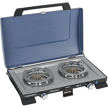 R/échaud /à gaz portable avec 2/br/ûleurs 70 cm et couvercle NSD-2C NJ