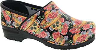 Bjork PRO Vera Limited Edition Sugar Skull Leather Clogs