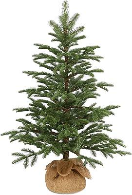 National Tree Company 'Feel Real' Artificial Mini Christmas Tree   Includes Cloth Bag Base   Norwegian Seedling - 3 ft