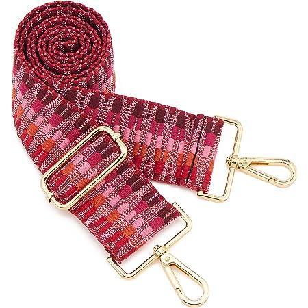 ZOUIQSS Damen Goldfarbene Bunter Schultergurt längenverstellbarer breiter Tragegurt Schultergurt für Handtaschen 3.8cm breit 73-125cm-Schultergurt für Handtaschen((5CM) Color30)