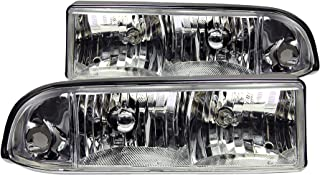 Anzo USA 111014 Chevrolet S10 Crystal Chrome Headlight Assembly - (Sold in Pairs)