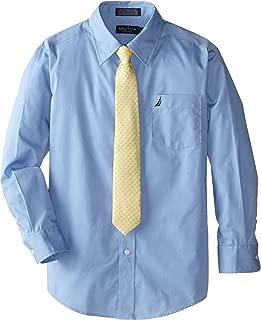 Nautica Boys' Long Sleeve Dress Shirt with Tie