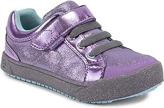 pediped Girls' Dani Sneaker, Lavender, 25 Child EU Big Kid (8.5 US)