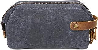 La Moda Bolsa de Embrague for Hombre Bolsa de Lavado de Lona con Aceite Encerado Bolsa de cosméticos Retro Bolsa de Pulser...