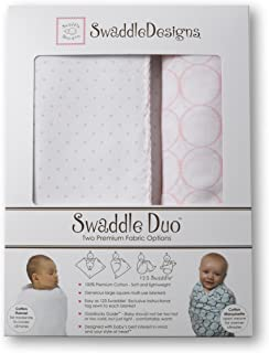SwaddleDesigns SwaddleDuo Classic Duo 浅粉色 42x42 inches, 46x46 inches