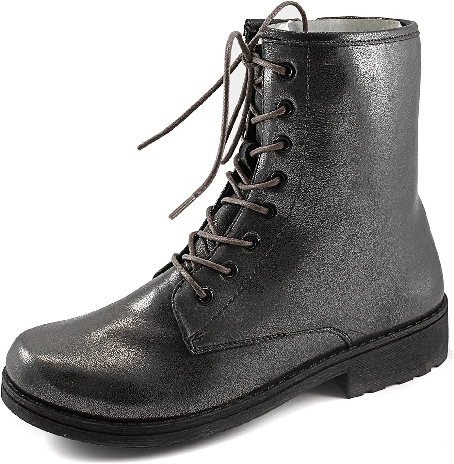 Women's Qupid Missile-04 Military Up Bootie Pewter