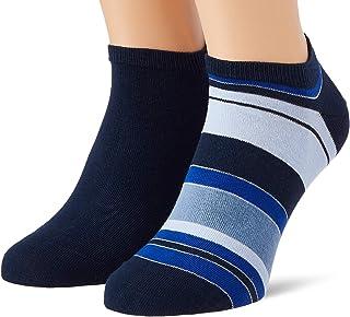 Tommy Hilfiger Tommy Hilfiger Color Stripe Men's Sneaker - Trainer Socks (2 Pack) heren Sokken