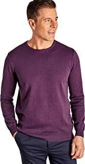 WoolOvers Mens Combed Cotton Crew Neck Jumper
