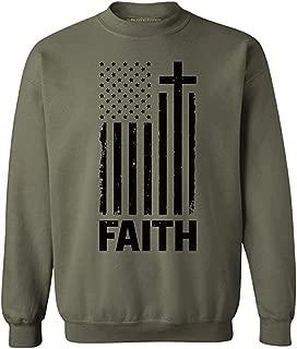 Awkward Styles Unisex USA Flag Faith Sweatshirt Crewneck 4th of July Gift Independence Day