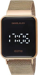 Daniel Klein Unisex-Adult Digital Watch, Digital Display and Stainless Steel Strap DK12098-3