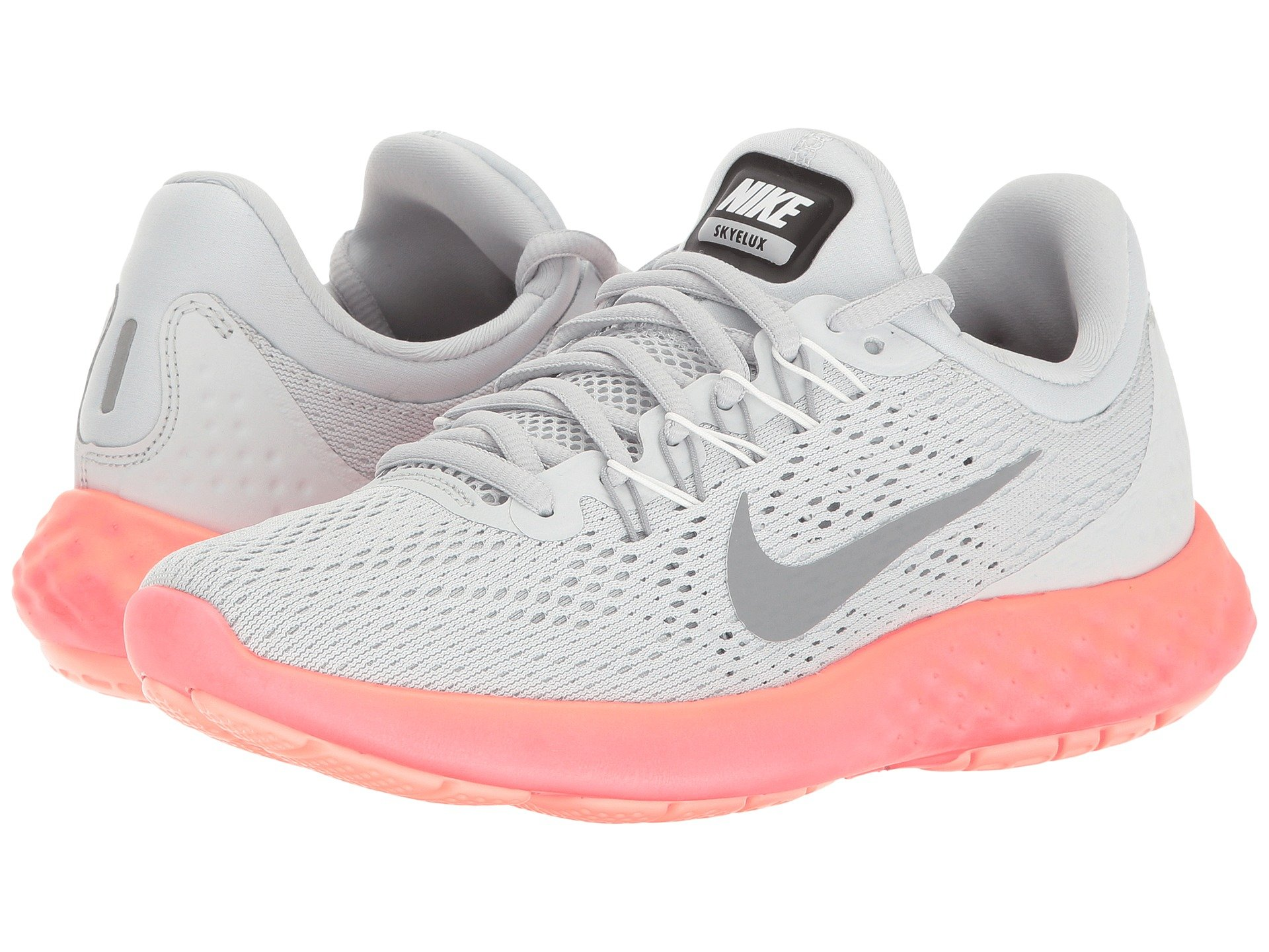 a80afd8d431f Nike Lunar Skyelux In Pure Platinum Stealth Summit White