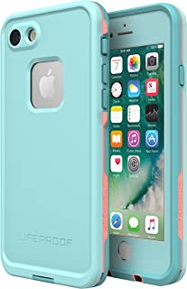 Lifeproof FRĒ SERIES Waterproof Case for iPhone 8 & 7 (ONLY) - Retail Packaging - WIPEOUT (BLUE TINT/FUSION CORAL/MANDALAY BAY)