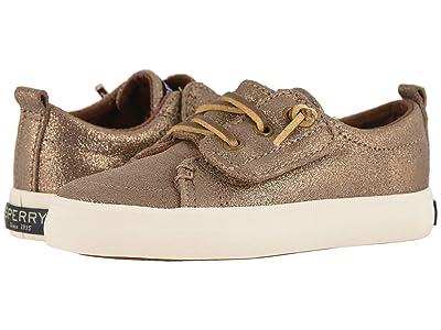 Sperry Kids Crest Vibe Jr. (Toddler/Little Kid) (Bronze Sparkle) Girls Shoes