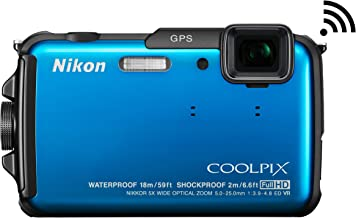 Nikon COOLPIX AW110 Wi-Fi and Waterproof Digital Camera with GPS (Blue) (OLD MODEL)