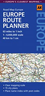 Europe Route Planner (Aa Road Maps)