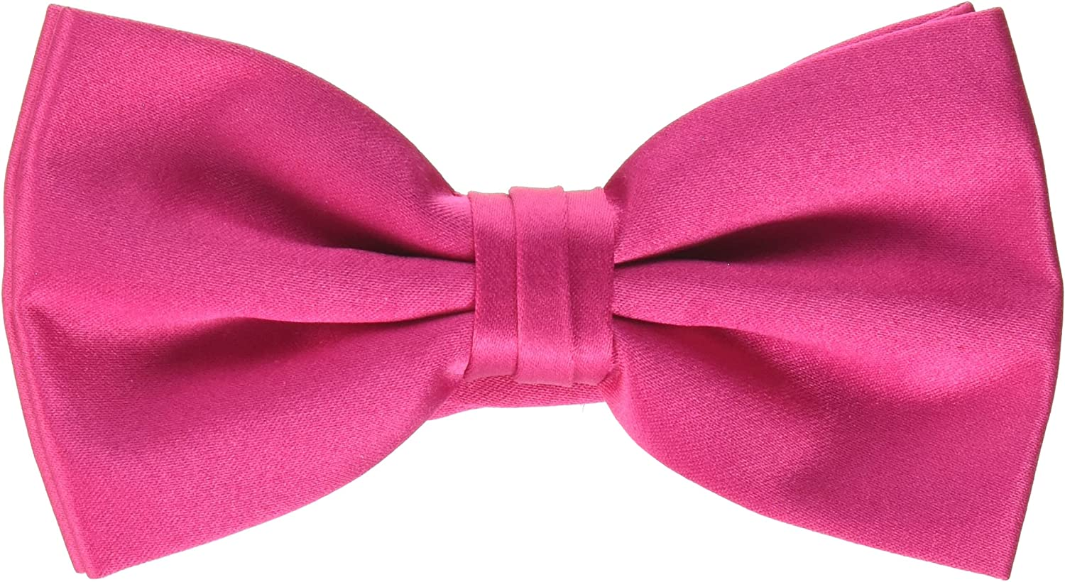 Stacy Adams Men's Satin OFFicial store solid Tie Size It is very popular Fuchsia Bow One