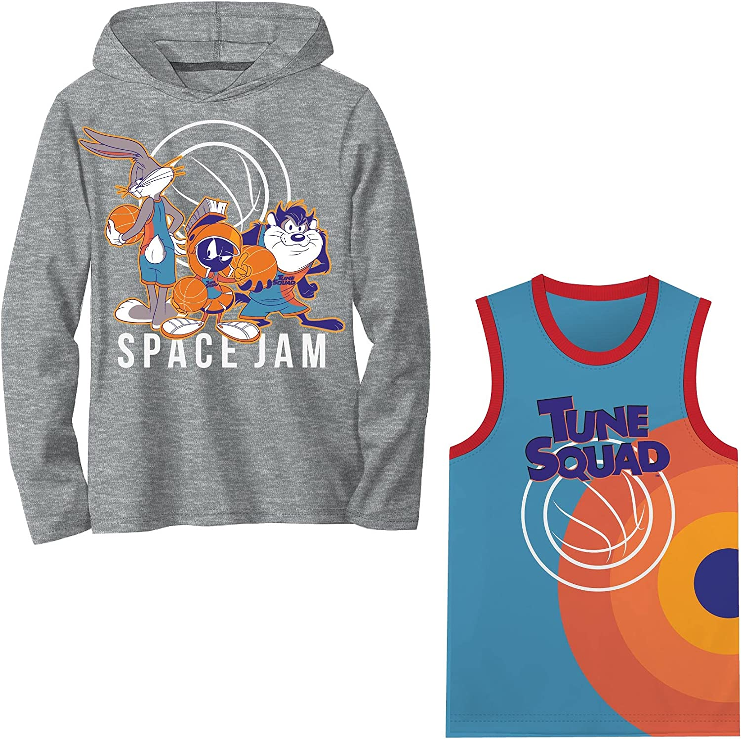 Space Jam 2 A New Legacy T-shirt Pullover Hoodie with Tank Jersey Bundle 2-Pack