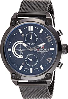 Naviforce Men's Black Dial Genuine Leather Analogue Classic Watch - NF9068S-BWB