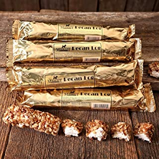 Georgia Pecan Logs Gift Box - Mascot Candy Kitchen Since 1955 (6 Individually Wrapped 4 oz Pecan Logs) Arrives in our Gift Box