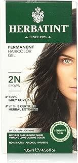 Herbatint Permanent Herbal Hair Color Gel, 2N Brown, 4.56 Ounce