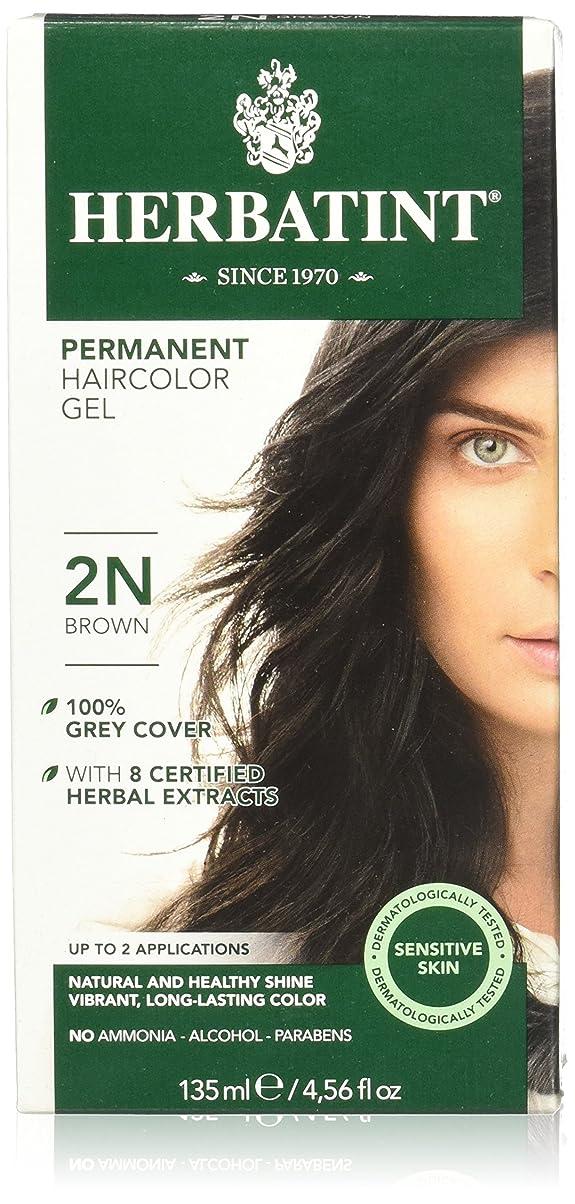 肌すみません対話Herbatint Permanent Herbal Haircolor Gel Brown (並行輸入品)