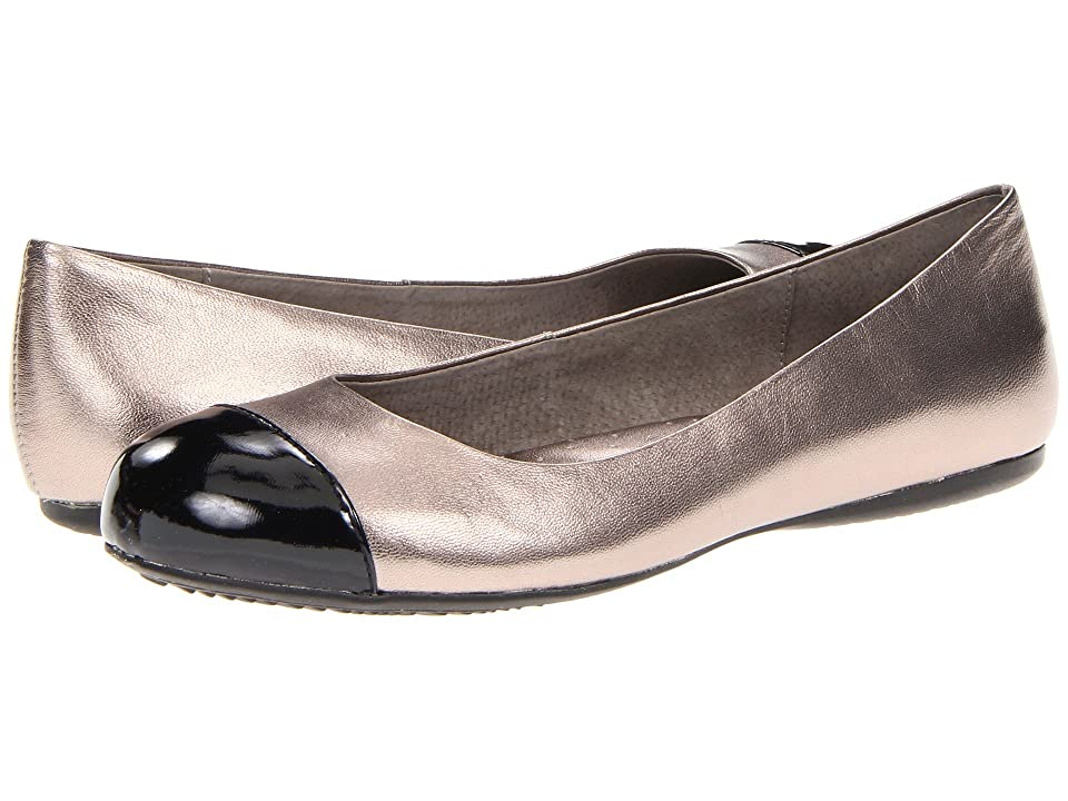 SoftWalk Napa (Soft Pewter/Black Soft Metallic Leather/Patent) Women