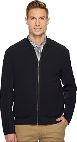 Solid Ribbed Bomber Jacket