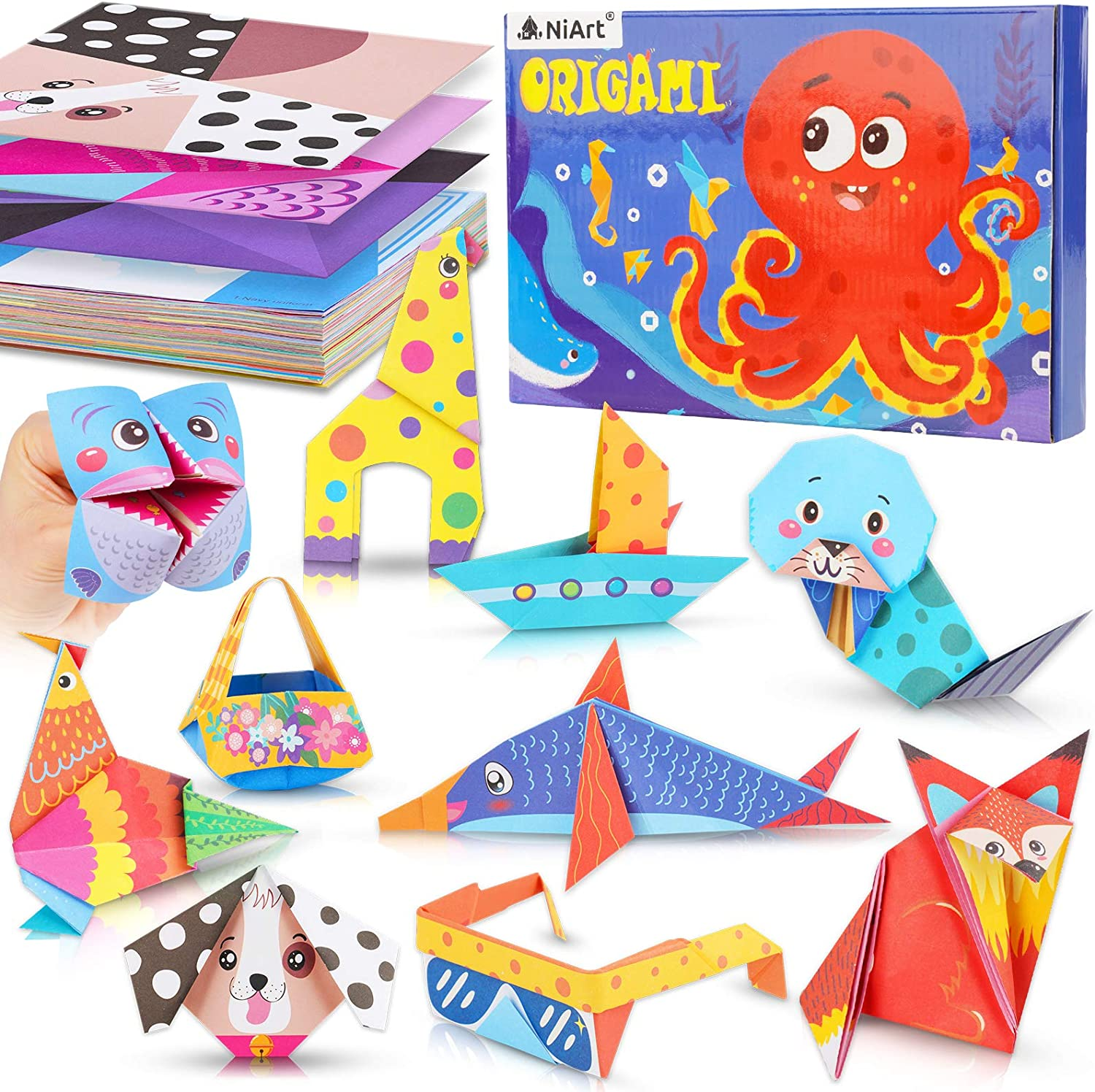 NiArt Origami New arrival Paper Brand new Kit 152 Sheets 72 Double-S Designs 5.5