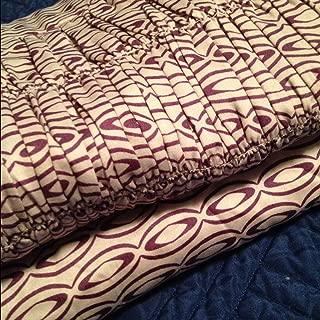 Bar III Viola 200T Cotton Euro Sham Pair Purple/White