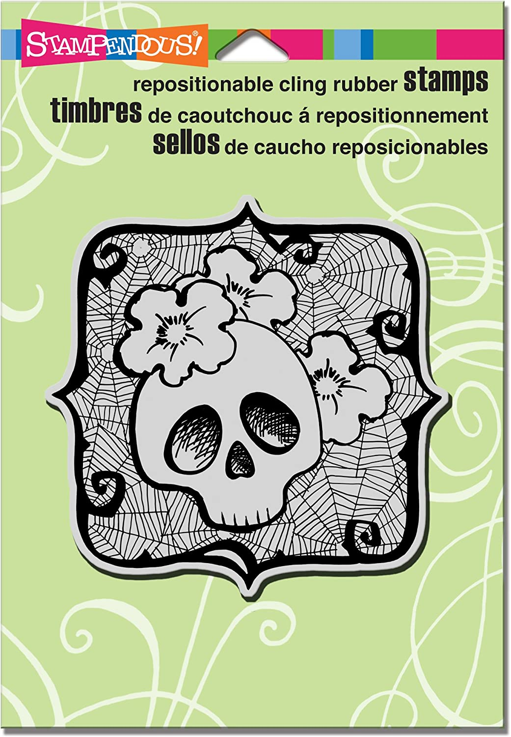 Stampendous Cling Stamp 4.75 x 4.5inch, Skull Ghoul