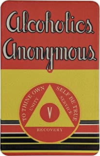"""5 Year AA Chip""""First Edition"""" Alcoholics Anonymous Big Book Sobriety Gift"""