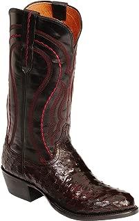 Men's Montana Full Quill Ostrich / Derby Calf Boot